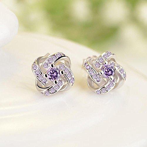 Sterling gioielli Grande elegante 925 Stud amore sempre orecchini gioielli Silver Stud per Fittingran promozione donne donna Crystal orecchini Ear pwCnqA0rC