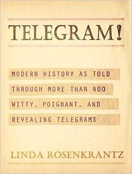 , and Revealing Telegrams: Linda Rosenkrantz: Amazon.com: Books