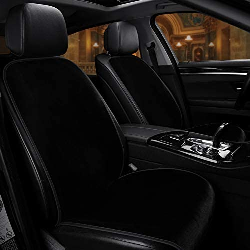 Wine Red, Heating MuYiHan 12V//24V Plush Car Front Seat Cover Crystal Velvet Electric Heating and Massage Cushion Pad Winter Warm Cover Universal Auto Seat Cover for Pick-up Truck,Jeep,SUV