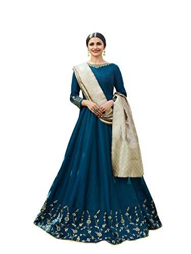 ziya Readymade Wedding Collection Indian Pakistani Anarkali Bollywood Suit Tumba (Blue, S-38)