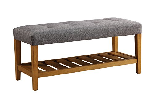Acme Furniture AC-96686 Bench, One Size, Gray & Oak