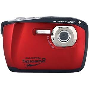 ELBWP16R - BELL+HOWELL WP16-R 16.0 Megapixel WP16 Splash2 HD Underwater Digital Camera (Red)