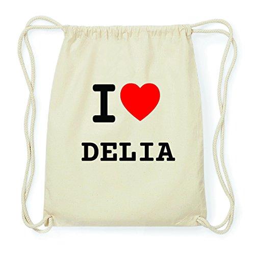 JOllify DELIA Hipster Turnbeutel Tasche Rucksack aus Baumwolle - Farbe: natur Design: I love- Ich liebe Z3a5NO