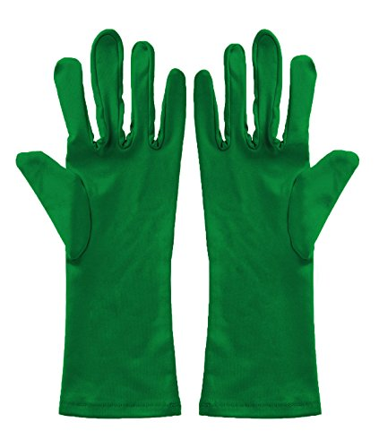 Sheface Spandex Wrist Length Short Gloves Costume Accessory