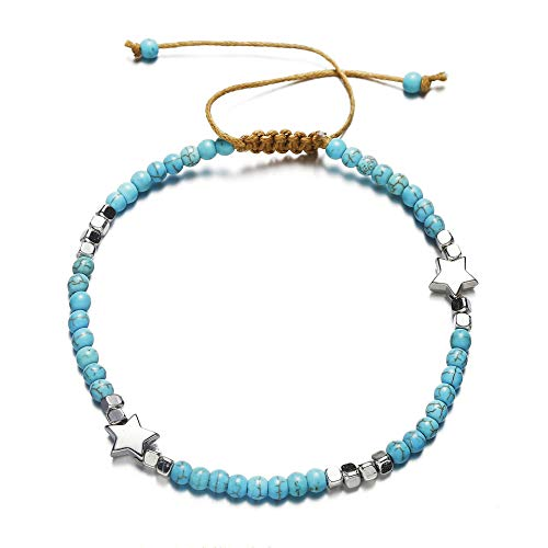 - Unicra Bohemian Turquoise Anklet Star Foot Chain Beach Jewelry Accessories for Women and Girls