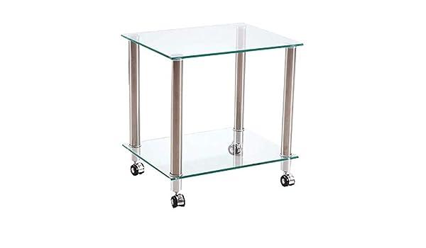 Mesa auxiliar de escritorio para computadora Televisor de vidrio ...