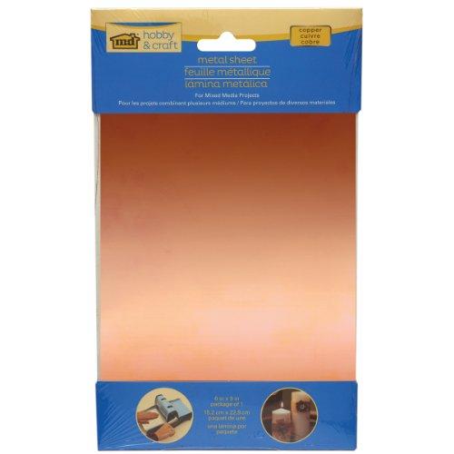 M-D Hobby & Craft Copper Sheet, 6 x 9-Inch