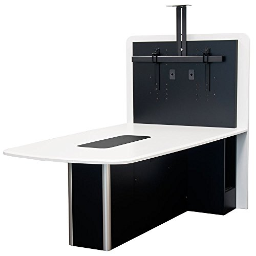 Huddle Table (AVFI - VFI Table-T526EX () TABLE for Huddle Rooms/Collaboration/Video Conference rooms with monitor mount, SGT shark gray)