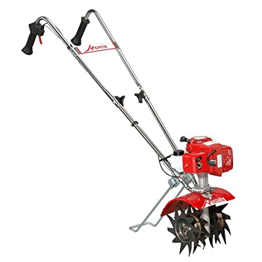 Mantis 7225-15-02 2-Cycle Gas-Powered Tiller/Cultivator with Kickstand (CARB Compliant)