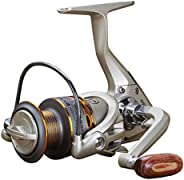 Spinning Fishing Reels for Freshwater Left/Right Interchangeable Gear Stainless Ball Bearings Metal Body DX200