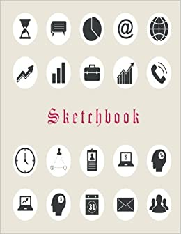 Amazon com: Sketchbook: Business icon: 110 Pages of 8 5