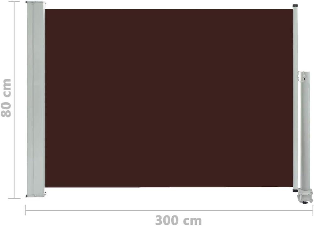 Festnight Tenda da Sole Laterale per Patio Tende da Sole Paravento Laterale 80x300 cm Crema