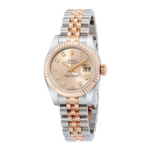 Rolex Lady Datejust Pink Dial Automatic Stainless Steel 18kt Rose Gold Ladies Watch 179171PDJ