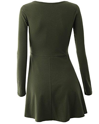 Romanstii - Vestido - para mujer Ejercito Verde