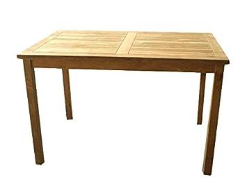 Amazon De Linder Exclusiv Echt Teak Tisch Gartentisch Teaktisch 120