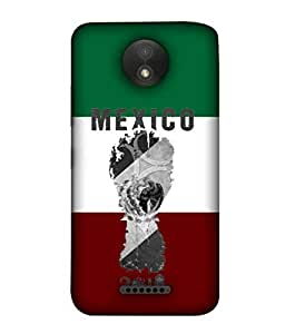 ColorKing Football Mexico 05 Multicolor shell case cover for Motorola Moto C