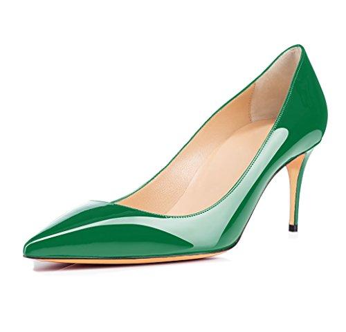 Grande Ubeauty Haut Talon 65mm Femmes Chaussures Escarpins Aiguille Taille Talons Femme Vert Stilettos wUxUYZqH