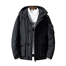 Men's Oversized Down Parka Fall Winter  Hooded Coat Jacket