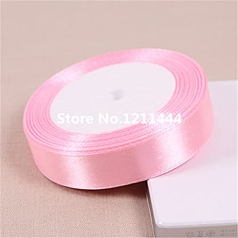 buy generic pink79 25 yardslot 20mm solid light pink satin ribbons for birthdaychristmas gifts wrapping decorations ribbons wholesale online at low