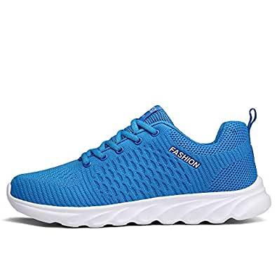 Ahico Running Shoes Men Air Cushion Mens Tennis Shoe Lightweight Fashion Walking Sneakers Breathable Athletic Training Sport Size: 8 Women/6.5 Men
