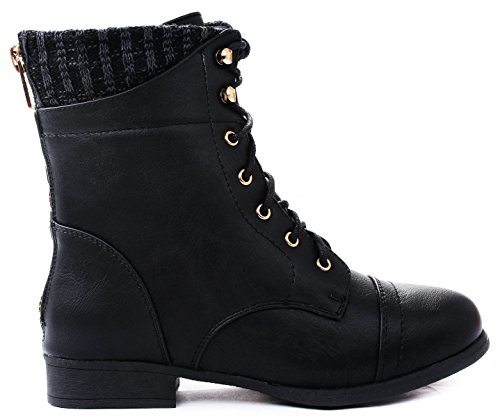 High Top Motorcycle Boots - 9