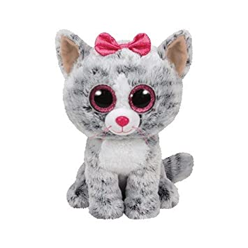 Ty - Beanie Boos Kiki, gatita, 23 cm, Color Gris (United Labels
