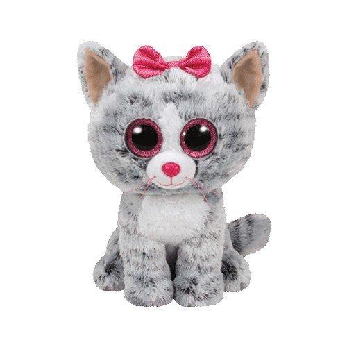 Ty - Beanie Boos Kiki, gatita, 23 cm, Color Gris (United Labels Ibérica 37075TY): Amazon.es: Juguetes y juegos