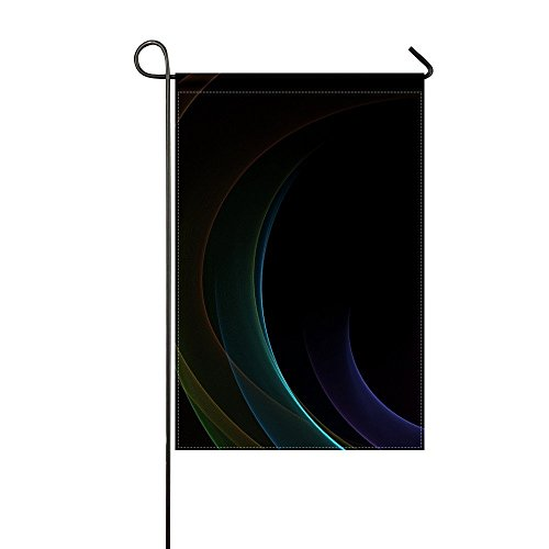 (COCOBE Garden Flag Circles Patterns Shadows Smoke Background 12x18 Inches(Without Flagpole))