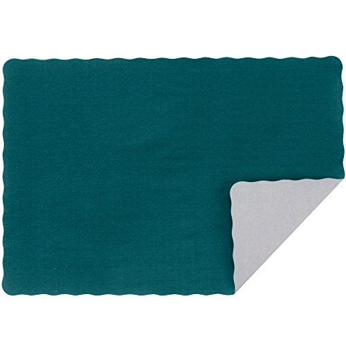 Hunter Paper Placemat (Hunter Green Colored Paper Placemat with Scalloped Edge - 1000/Case Size: 10