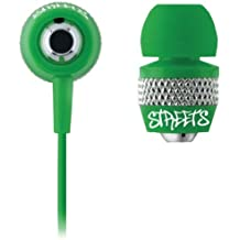 Coby CVE55 jammerz Streets Urban Style Isolation Stereo Earphones, Green