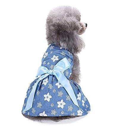 Buy Veena Tinghao Stylish Big Ribbon Bowknot Flower Floral Dog Dress