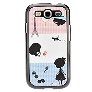 Girl Pattern Hard Case for Samsung Galaxy S3 I9300