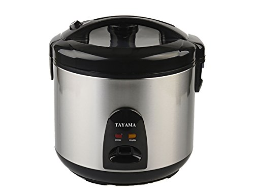 Tayama TRSC-10 10 Cup Cool-Touch Rice Cooker with Stainless