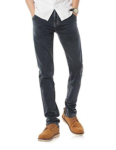 Demon&Hunter Skinny Hombre Pantalones Vaqueros Pitillos Jeans S8L82 Gris