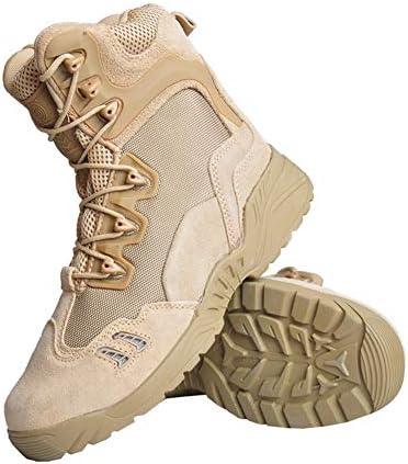 サイドジッパー ハイカットミリタリーブーツ 登山 ハイキングジャングルブーツ 軍靴 アウトドア タクティカルブーツ メンズ ハイキング シューズ 登山 靴 アウトドアスニーカー 防水 防滑 通気性 耐磨耗 (24.5~27.5cm)