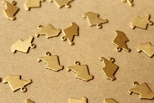 8 pc. Raw Brass Maryland State Charms/Blanks: 11.5mm by ()