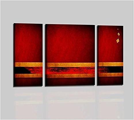 Cuadros Abstractos Modernos Aceite Sobre Lienzo Pintados A Mano Rojo