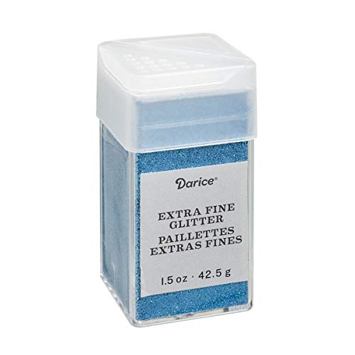 Peacock Blue Extra Fine Glitter 1.5 Ounces Canister w/Pour or Shake Lid