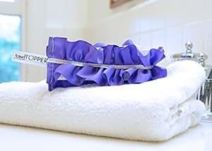 The Original TowelTopper (M, Purple with White Stripe)