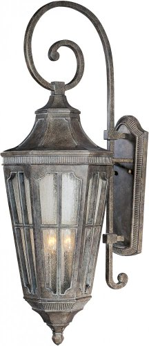 Maxim 40155CDSE Beacon Hill VX 3-Light Outdoor Wall Lantern, Sienna Finish, Seedy Glass, CA Incandescent Incandescent Bulb , 60W Max., Dry Safety Rating, Standard Dimmable, Frosted Glass Shade Material, Rated Lumens (Light Mount Wall Three Ada)