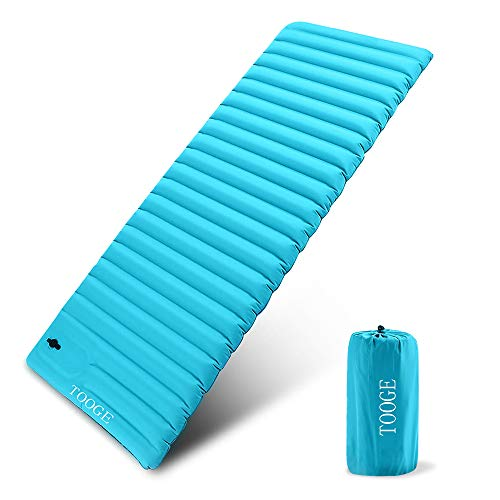 TOOGE Inflatable Sleeping Pad for Camping, Compact Camping Mat Air Single Waterproof for Backpacking Hiking 3.5 inch Super Thick Extra Wide XL