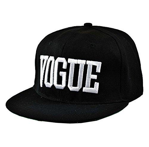 Bayto Fashion New Snapback Hats Unisex GD VOGUE Baseball Cap Black Canvas Bboy (Vogue Cap)