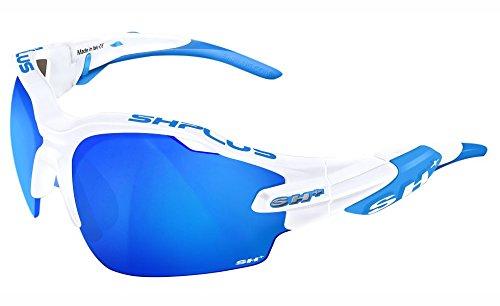 SH Plus SH + RG 5000WX, lunettes Mixte adulte S Bianco/Revo Laser Blu