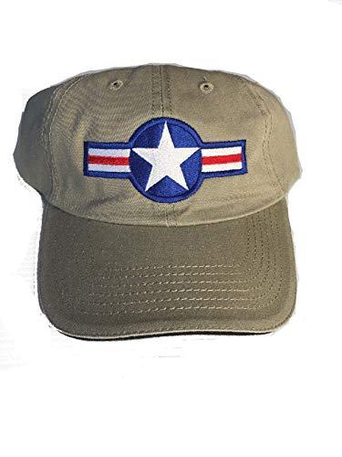 US Army Air Corp Vintage Star Ball Cap Khaki ()