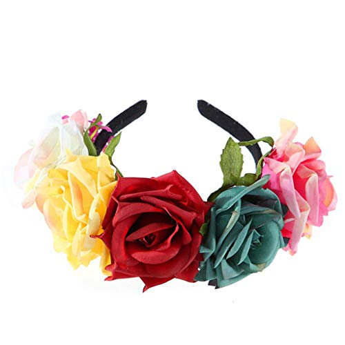 YoYoly halloween costumes,Big Flower Crown Wedding Hair Accessories Garland Hair Band Head Lead Bride
