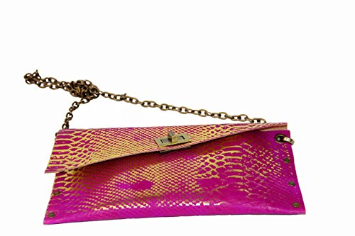 HiveBag , Sac pour femme à porter à l'épaule Pink - Gold 28x14x3