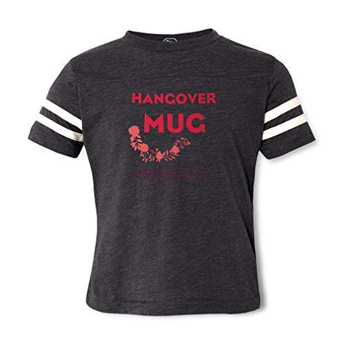 Personalized Custom Hangover Mugs Cotton/Polyester Contrasting Stripes Crewneck Boys-Girls Toddler Sports T-Shirt Football Jersey - Dark Gray, ()
