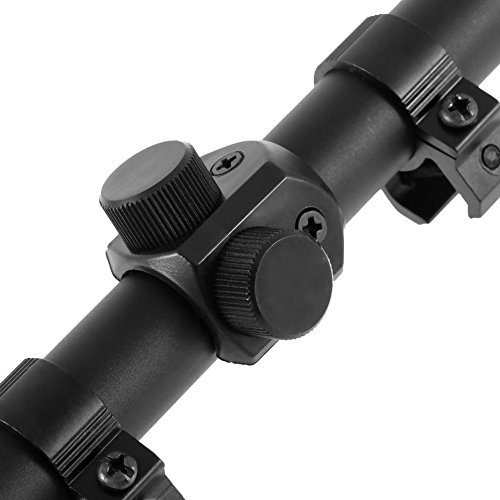 Ultimate Arms Gear Tactical 4x20 Fine Crosshair Reticle 22 .22 Caliber Rifle And Airgun Paintball , Pellet Gun, Crossbow Or Airsoft Compact Scope + Lens Caps + 3/8'' Dovetail Mounting Rings by Ultimate Arms Gear