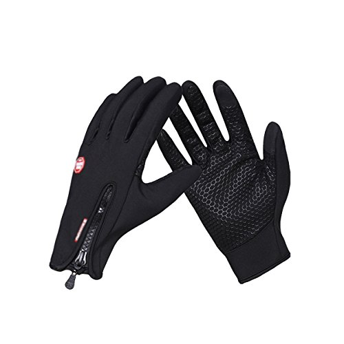 Ladies Snowboarding (EVILTO Women's Touchscreen Warm Glove, Anti-slip Water-proof Wind-proof Driving Gloves with Fleece Inner Lining for Winter Outdoor Sports Motorcycle Running Skiing Snowboarding Cycling (M))