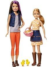 Mattel Barbie-Mueñecas Skipper y Stacie granjeras con Accesorios, Juguetes +3 años, Multicolor GCK85
